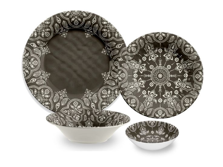 Found it at Wayfair - India Stamp 16 Piece Melamine Dinnerware Set