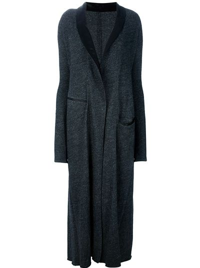robe with concealed front fastener: Long Dress