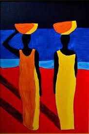 """Résultat de recherche d'images pour """"peinture femme africaine toile"""""""