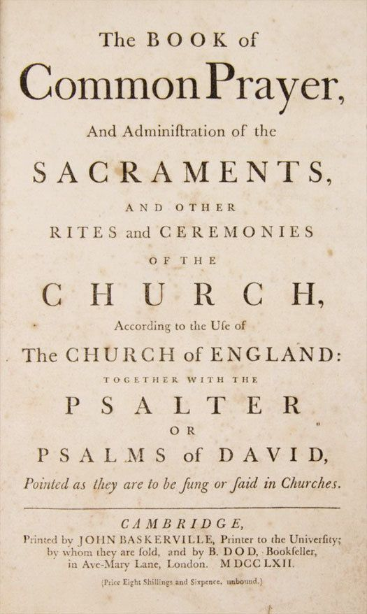 """Baskerville Book fo Common Prayer -- """"Typeface of truth"""" according to Errol Morris"""