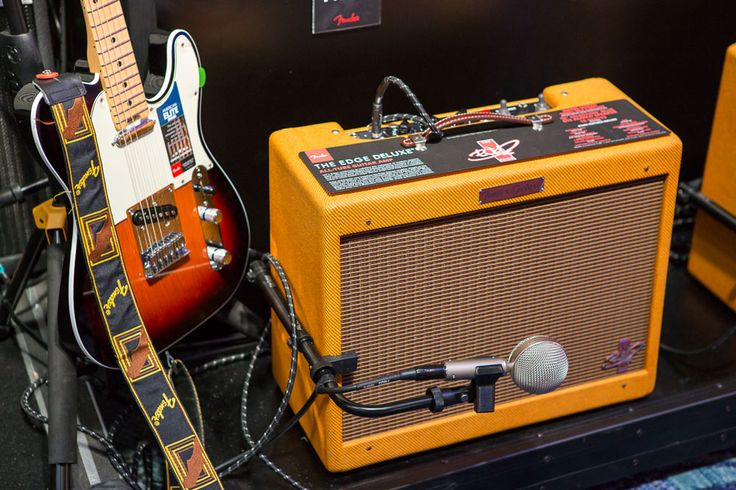 The Edge Deluxe  Another signature amp on display was the Edge Deluxe. The updated take on the '57 tweed Deluxe is an excellent compliment to the U2 guitarist's signature sound, and the NAMM audience got to hear it played both clean and crunchy, with and without pedals.