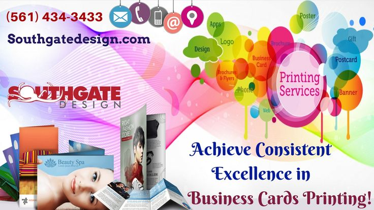 Design and print your high quality business cards at Southgate Design.We are specialists in business card design and printing. We can help you create a powerful impact with your business.Contact us today! (561) 434.3433.