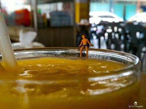 Time to swimming on Mango juice