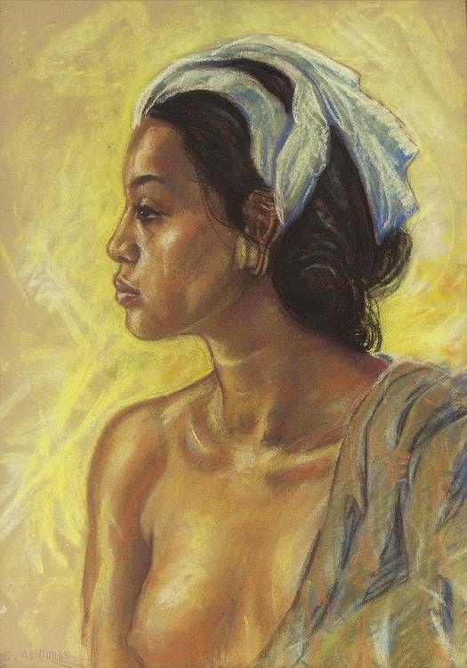 Portrait of A girl by Abdullah Basuki