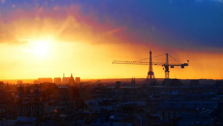 Paris sunset mood