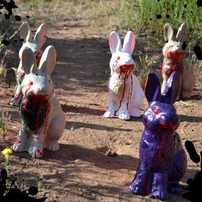 "zombie rabbit targets...""Bring forth they holy hand grenade!"""