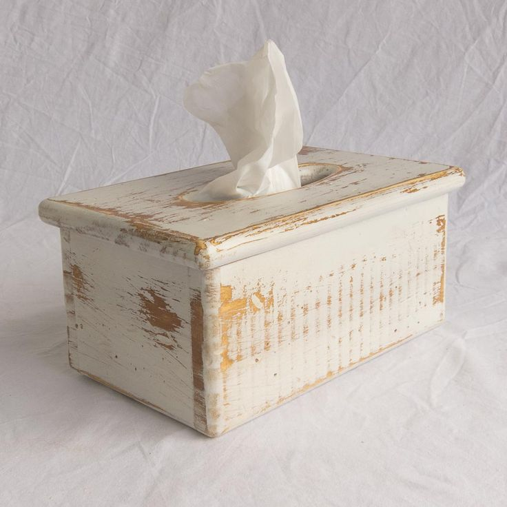 Tissue Box Cover – Wooden – Rectangular - Holds rectangular facial tissue boxes