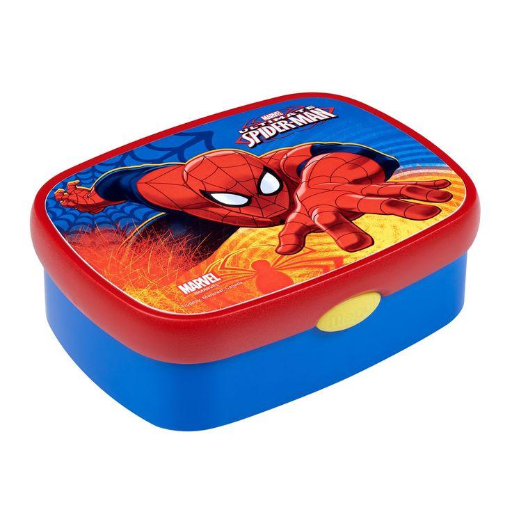 Neem je lunch mee in superhelden stijl in deze Mepal Campus lunchbox van Spiderman. De blauwe lunchbox is gemaakt van stevig kunststof en is gemakkelijk af te sluiten met een druk op de knop. Vaatwasserbestendig. Afmeting: lunchbox 17,5 x 13 x 6 cm - Mepal Campus Lunchbox Midi - Spiderman