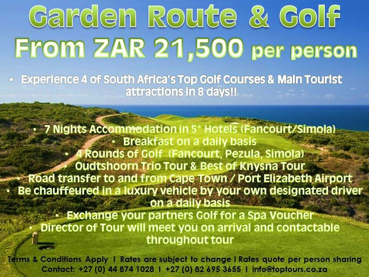 Garden Route & Golf