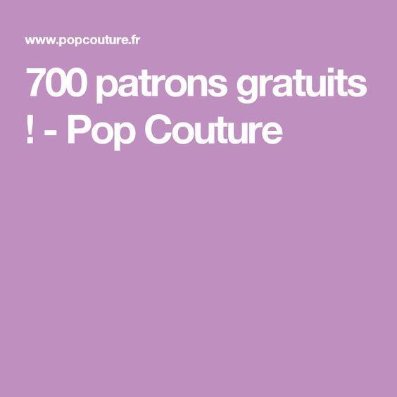 700 patrons gratuits ! - Pop Couture