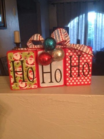 Ho Ho Ho wood blocks Go Ahead & Craft