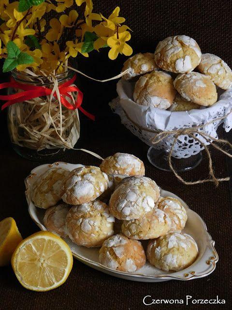 Czerwona Porzeczka: Popękane ciasteczka cytrynowe