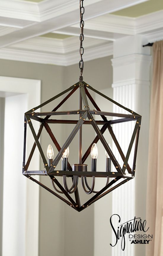Pendant light home lighting fadri pentant light ashley furniture