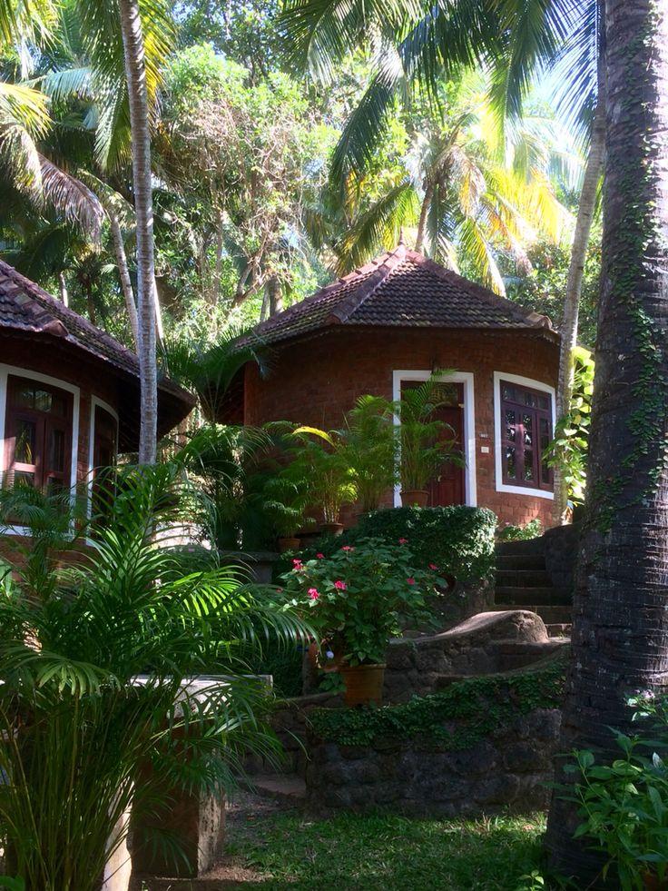 Kerala cottage. Manaltheeram