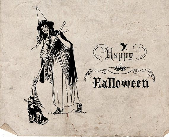 29 best Vintage Halloween Graphics images on Pinterest | Vintage ...