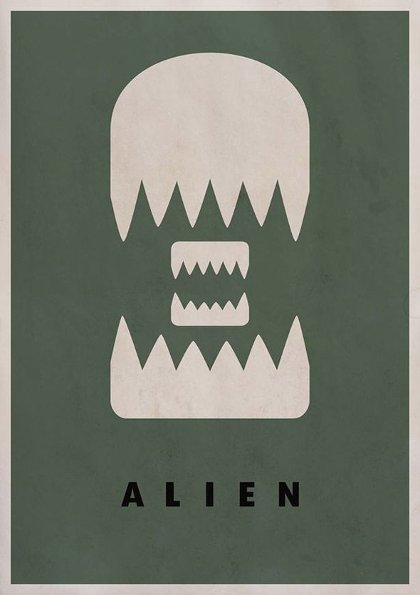 Top 50 Illustrated Movie Posters With Punch #MoviePosters #Cinema #GraphicDesign