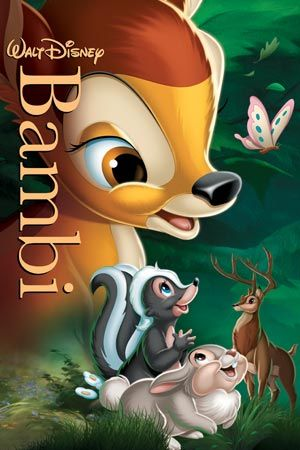 Bambi is the first film I ever saw at the cinema as a child. I love this movie and even though I've seen it so many times, I still cry like a baby when I watch it!