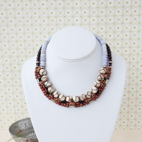 Charlotte Hosten Matangi Necklace in Orange