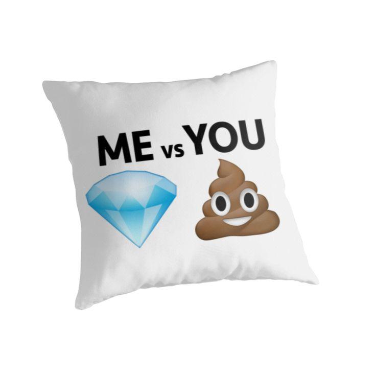 Me Vs You // Diamond and poop Emoji Text Joke Gift by hocapontas