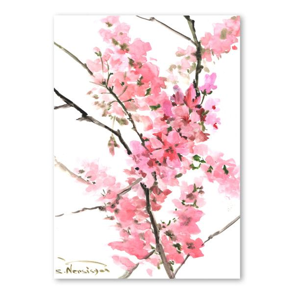 Plakát Flowers Pink od Suren Nersisyan | Bonami