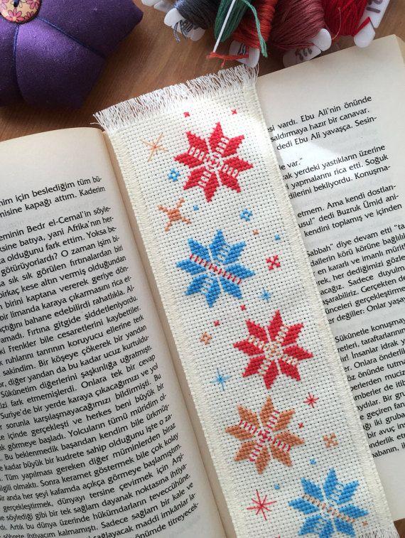 Springsnow Handmade Cross Stitch Bookmark by TheCrossCosmos