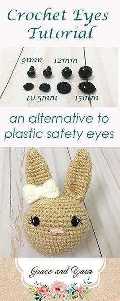Tutorial De Olhos De Crochê - Uma Alternativa Para Os Olhos De Segurança De Plástico