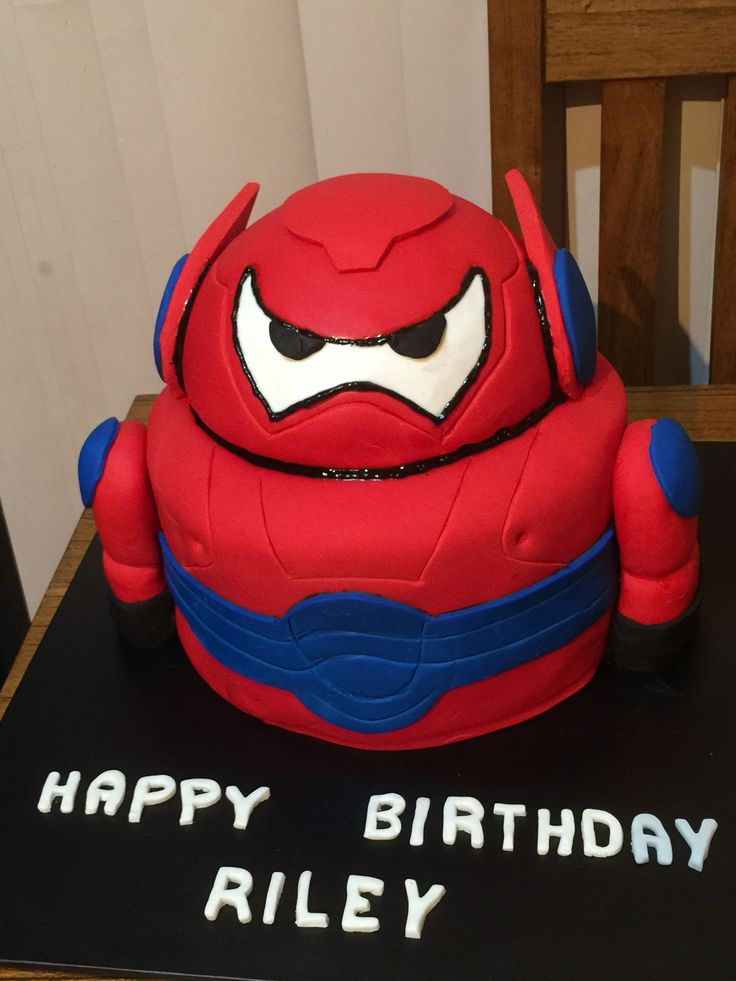 Armoured Baymax cake for 6th birthday
