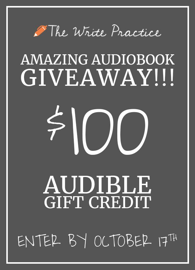 We Love Sharing The Best Reads With Writers That S Why We Re Giving Away A 100 Gift Card To Audible The World S Lea Writing Writing Advice Writing Resources