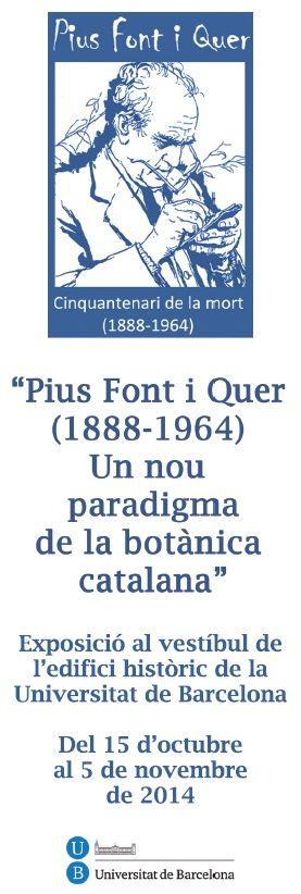 2014 -  Punt commemoratiu del cinquantenari de la mort del professor Pius Font i Quer