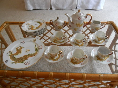 Vintage Japanese Dragon Tea Set Dinnerware China Serving Plates | eBay & 30 best Japanese dishes images on Pinterest | Japanese dishes ...