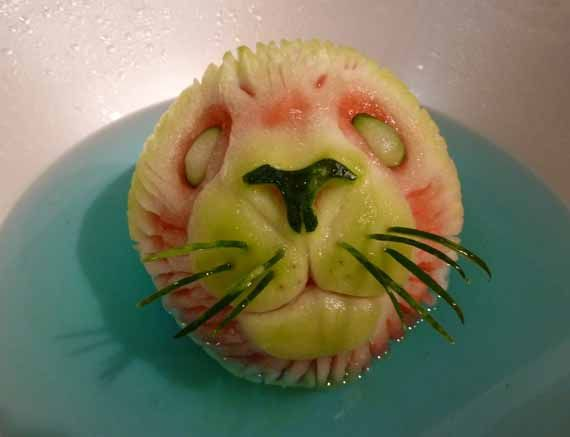 Best Food Sculpting Images On Pinterest Food Art Food - Incredible sculptures carved watermelon