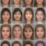 The Average Women Faces In Different Countries - Come sarebbe mediamente il volto di una donna nei diversi paesi