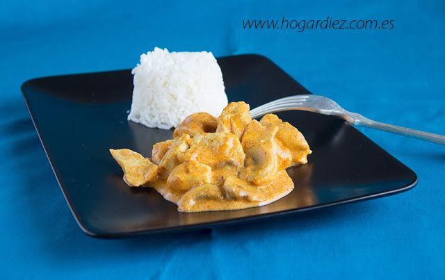 Pollo al estilo Tikka Masala. www.hogardiez.com.es