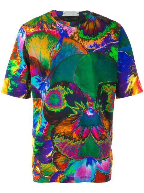 Christopher Kane pansy print T-shirt