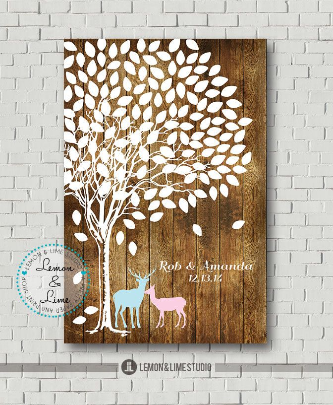 Rustic Wedding Guest Book Alternative Bridal by MarshmallowInkLLC, $40.00