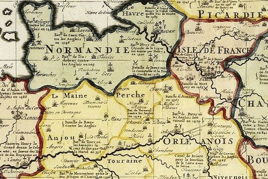 Juste avant la Révolution. The French Revolution marks not only the end of the monarchy and the political regime change. It is also synonymous with evolution of the territory. Here, the kingdom of France in 1781. © Universität Bern, Zentralbibliothek, Sammlung Ryhiner
