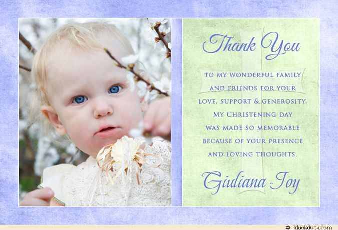 Baptism Thank You Card Wording Ideas 1 Baptism