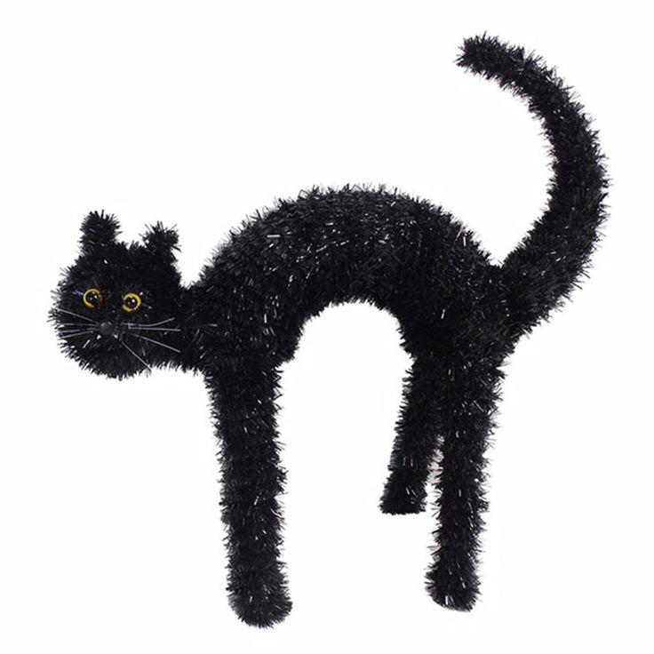 AtHome 20 Inch 3D Tinsel Cat- Black