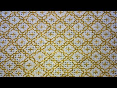 Nesse vídeo mostro esse modelo de bordado oriental ou sashiko embroidery feito com ponto alinhavo. PARA ENTENDER MELHOR O BORDADO NÃO PRECISA SER FEITO O PON...