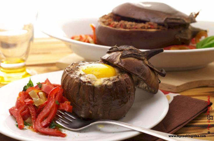 #Melanzane all'occhio di bue, #ricettavegetariana #mycookingide #ricettebloggherriunite http://www.mycookingidea.com/2015/09/melanzane-all-occhio-di-bue/