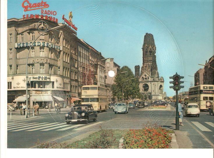 k1. Old Musical 45rpm Record Postcard Schallbildkarte Berlin Siebenmal i.d Woche