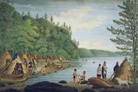 A View near Point Levy opposite Quebec with an Indian Encampment, Taken in 1788