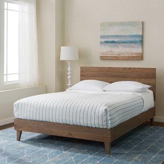 Industrial Barnwood Platform Bed Frame and Headboard