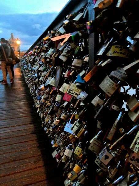 Love lock bridge ~ Paris, France (November 2013)