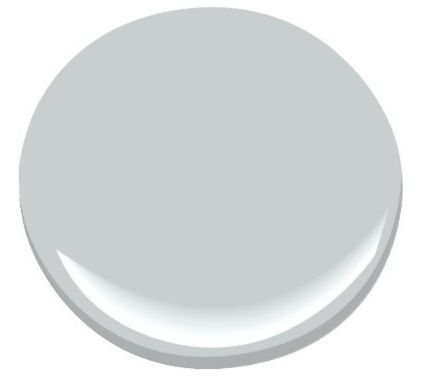 Pebble Beach Paint»  Pebble Beach is a great pale blue with some green to warm it. It would look lovely with white wood trim.