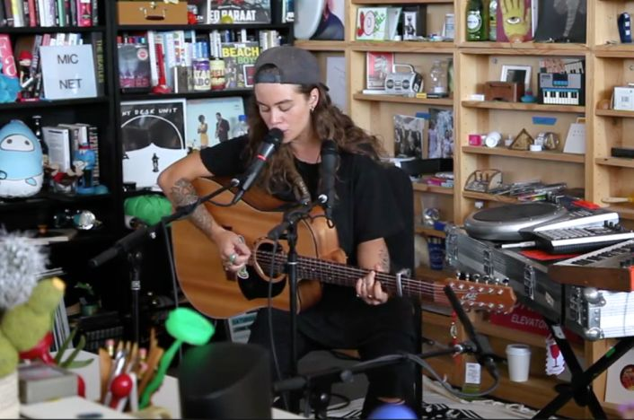 Multi-Instrumentalist Live Looping Tash Sultana Delivers Must Watch Tiny Desk Concert  Australian artist  Tash Sultana  has had me very excited lately with her insane live multi-instrumental approach and uniquely awesome songs. She is a one person band playing almost every instrument on top of having an incredible voice. She is also the latest artist to be picked to do an for NPR's Tiny Desk Concert series.   She performs nearly a half hour set playing guitar as her main instrument,..