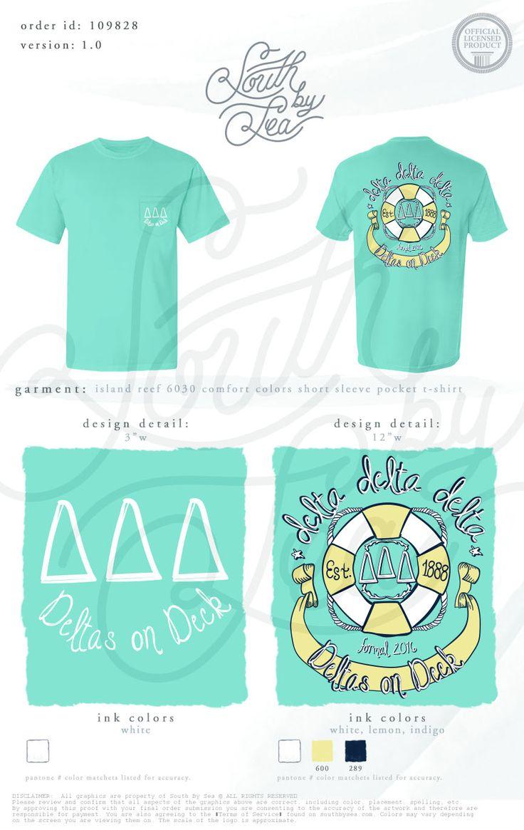 Delta Delta Delta | Tri Delta | Nautical T-Shirt Design | Deltas on Deck | South…
