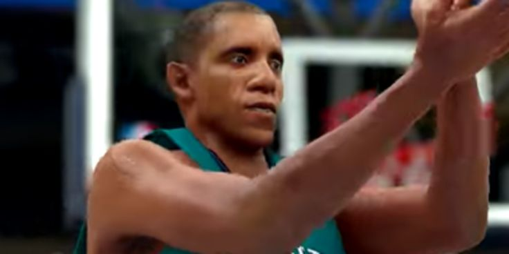 Someone Added Barack Obama To An NBA Video Game And It's Amazing