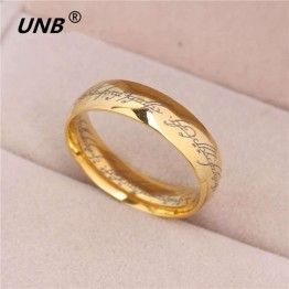 QIAO LA Fashion Unisex Stainless Steel  Lord of Rings For Lovers