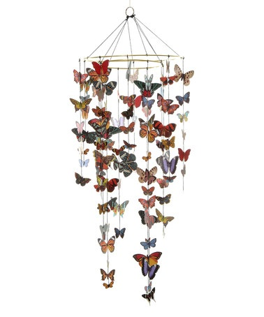 I'm going to buy this and hang it from my ceiling, don't even try to stop me.  Butterfly Mobile Kit by SEI on #zulily